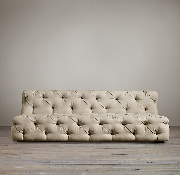 9' Soho Tufted Upholstered Armless Sofa