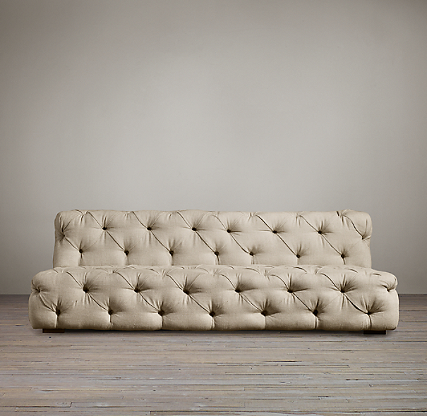 8' Soho Tufted Upholstered Armless Sofa