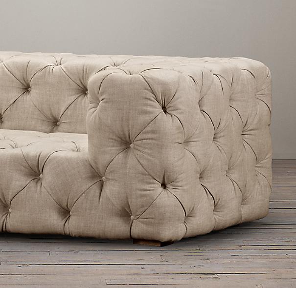 10' Soho Tufted Upholstered Sofa
