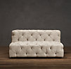 5' Soho Tufted Upholstered Armless Sofa