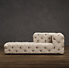 Soho Tufted Upholstered Left-Arm Chaise