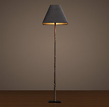 Iron Railing Twist Floor Lamp with Shade
