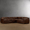 Collins Leather Sofa Chaise Sectionals With Nailheads