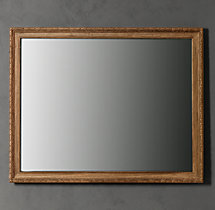 French Empire Mirror Antiqued Natural