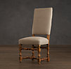 1890 English Baroque Upholstered Side Chair