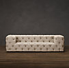 10' Soho Tufted Upholstered Armless Sofa