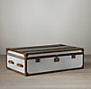 Mayfair Steamer Coffee Trunks Brushed Steel