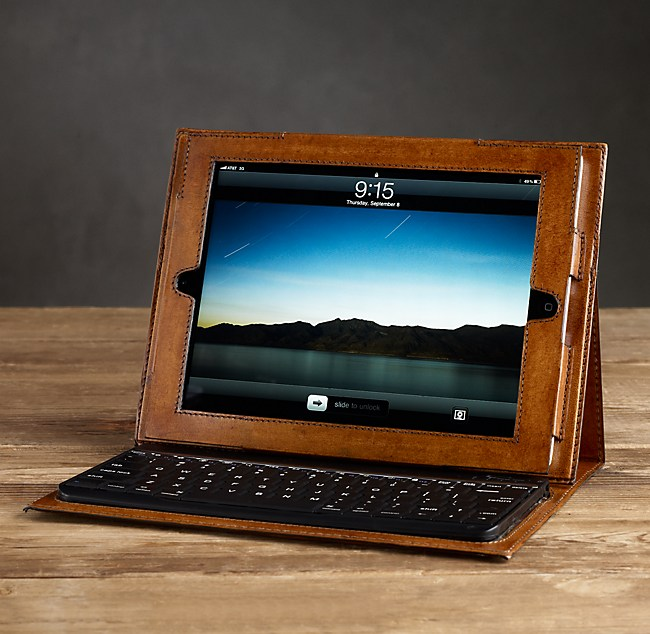 Artisan Leather iPad2® Cover with Bluetooth® Keyboard Chestnut