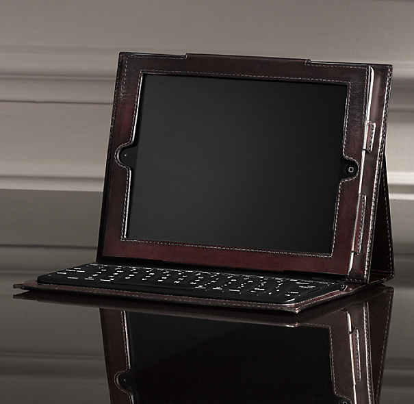 Artisan Leather iPad® Cover with Bluetooth® Keyboard - Chocolate