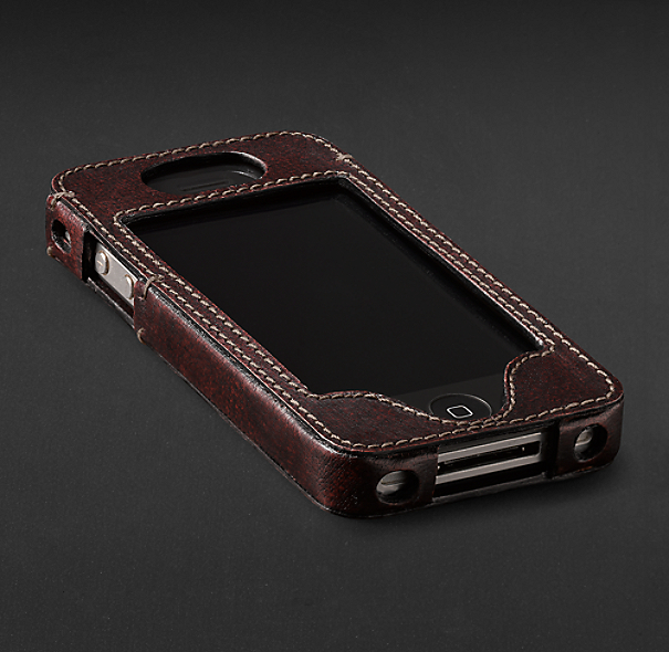 Artisan Leather iPhone® 4 and 4S Cover - Chocolate