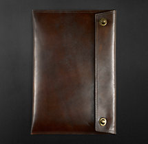 Artisan Leather Laptop Sleeve Chocolate