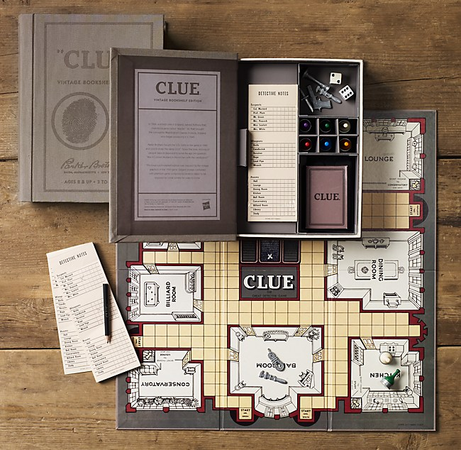 Vintage Bookshelf Clue®