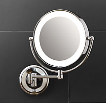 Modern Lit Extension Mirror
