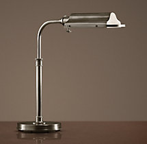 Writer's Task Table Lamp Antique Nickel