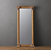 18th C. French Gold Leaf Column Mirror