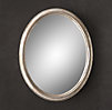 Antiqued Neoclassical Silver-Leaf Mirror
