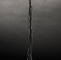 19th C. French Baroque Wood Chandelier Extension Chain