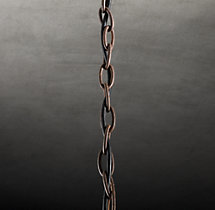 Parisian Wood & Zinc Chandelier Extension Chain