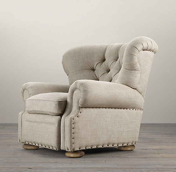 Churchill Upholstered Recliner with Nailheads