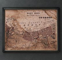 Circa 1861 Hong Kong Map