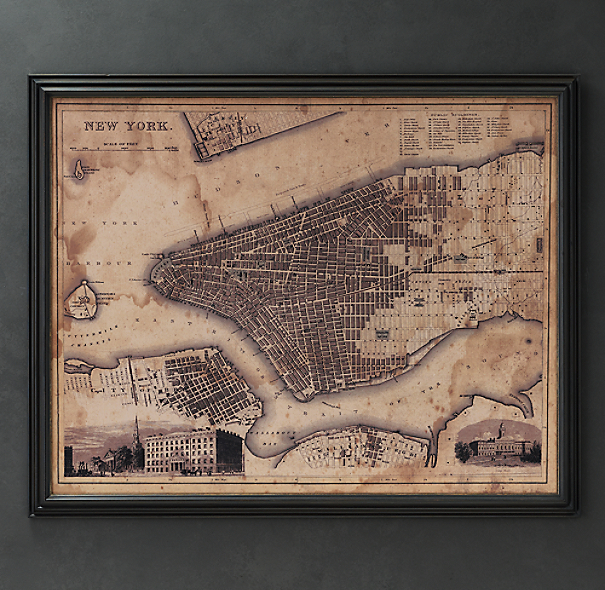 Circa 1900 New York Map