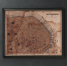 Circa 1887 San Francisco Map