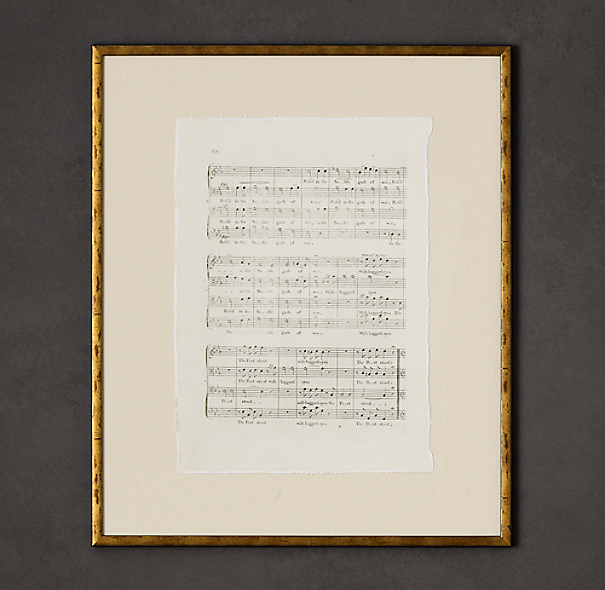 18th C. English Sheet Music Art 2