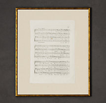 18th C. English Sheet Music Art 3