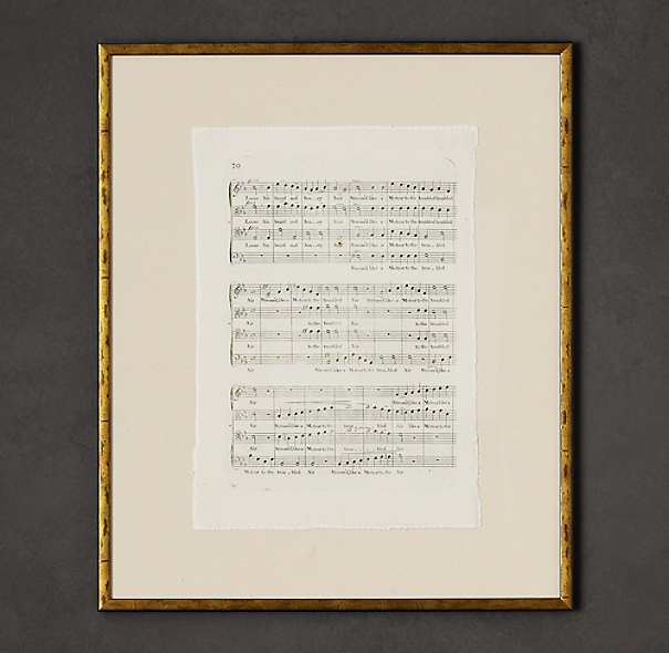 18th C. English Sheet Music Art 4