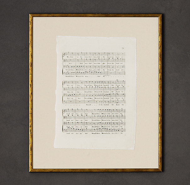 18th C. English Sheet Music Art 5