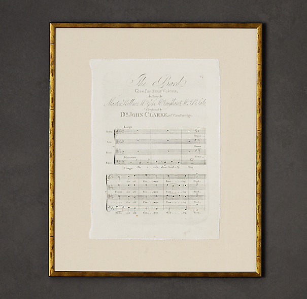 18th C. English Sheet Music Art 1
