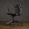 1940s Banker's Chair Antiqued Black