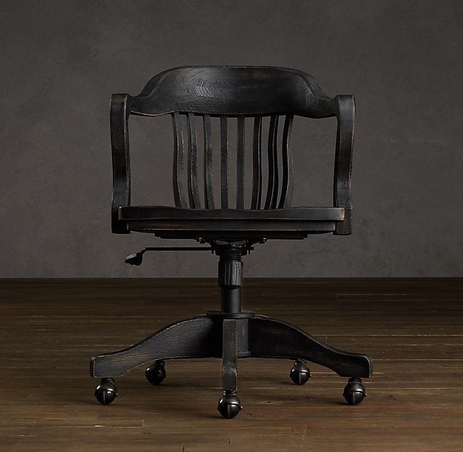 Vintage Wooden Office Chairs
