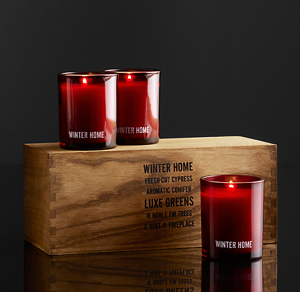 Winter Home Filled Candles (Set of 3)