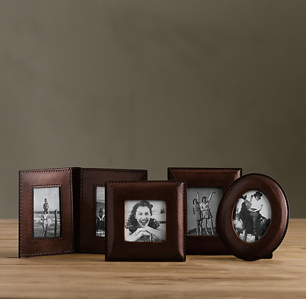 Mini Artisan Leather Frames Chocolate
