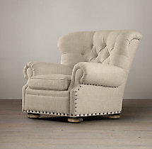 Churchill Upholstered Chair with Nailheads