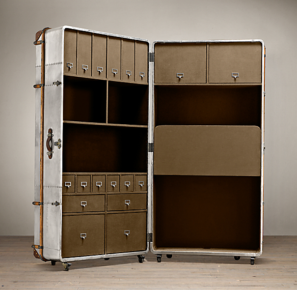 Richards' Metal Secretary Trunk