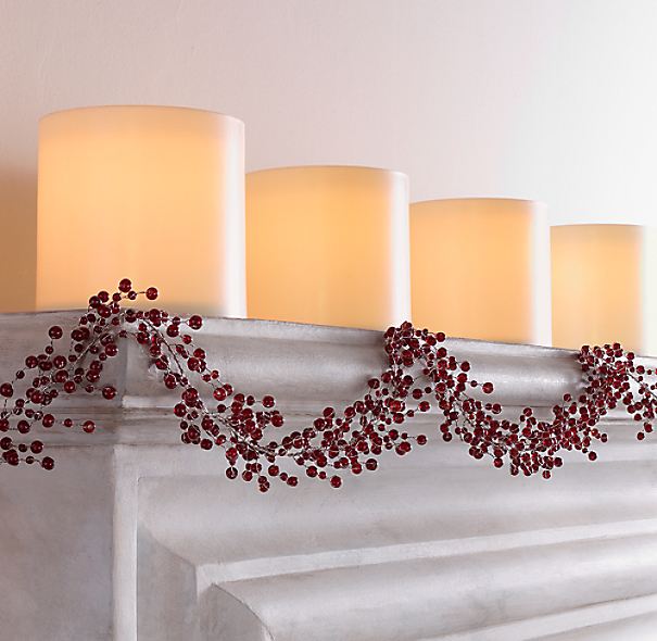 Vintage Glass Garland - Red