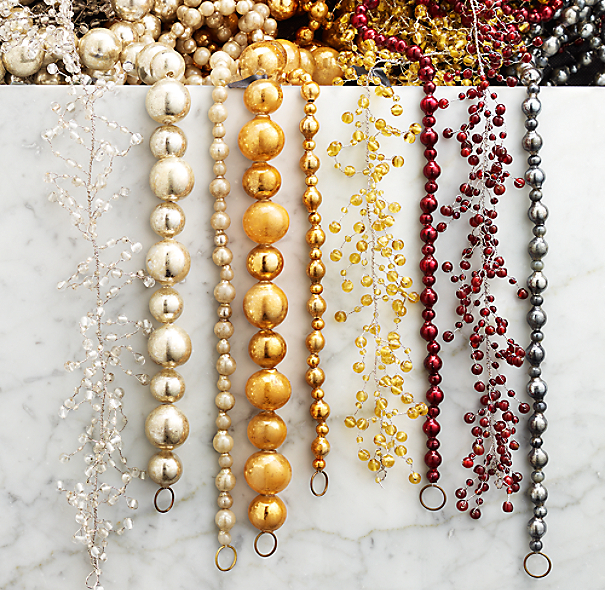 Vintage Glass Garland - Gold