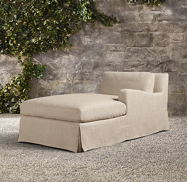 Belgian Slope Arm Outdoor Right-Arm Chaise