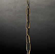 Victorian Hotel Pendant Antique Brass Extension Chain