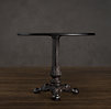 "22"" 19th C. French Acanthus Brasserie Table"