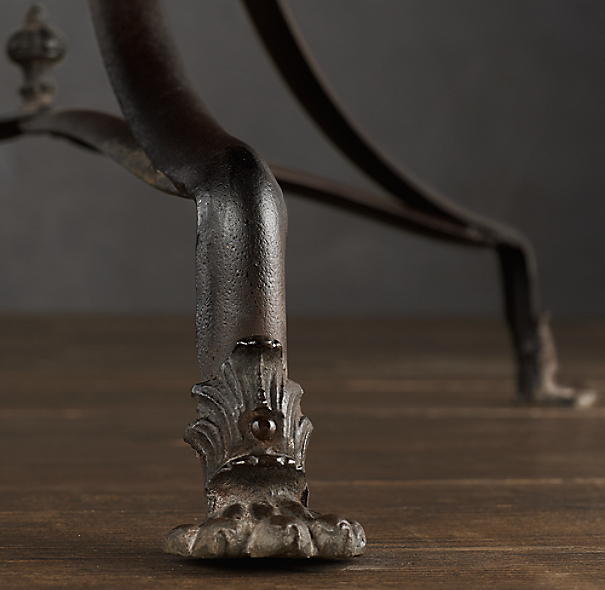 "24"" 19th C. French Lion's Foot Brasserie Table"
