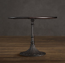 "30"" 20th C. Chrysanthemum Brasserie Table (Set of 2)"