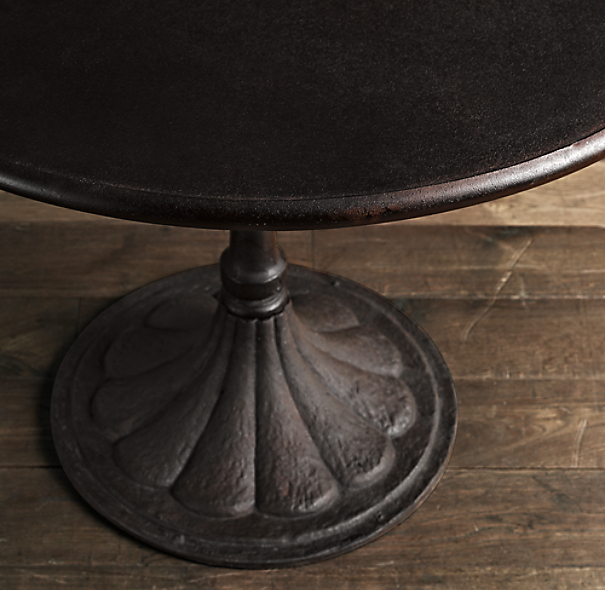 "40"" 20th C. Chrysanthemum Brasserie Table"