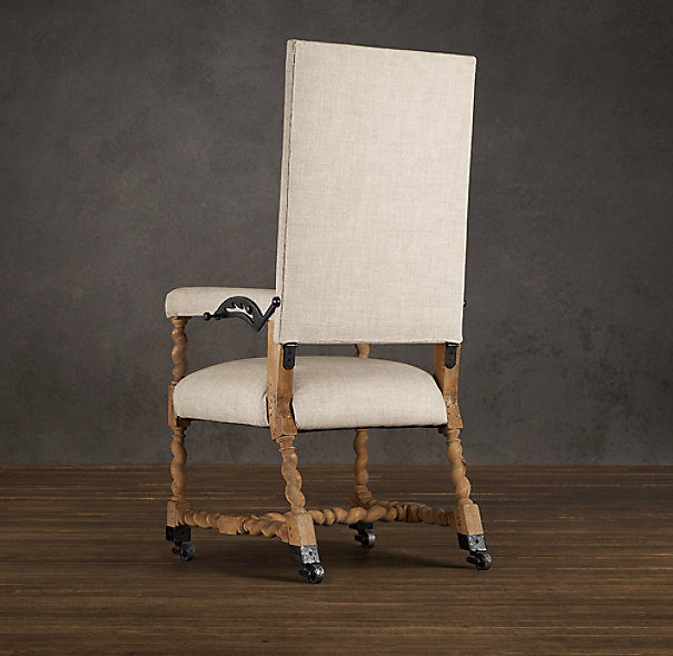 Bruges Adjustable Linen Desk Chair