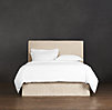 "Belgian Slipcovered Parsons 58"" Headboard with Bed Skirt"