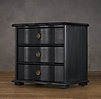 "30"" 18th C. Italian Baroque Wood Closed Nightstand (Set of 2)"