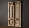 19th C. French Carved Door Headboard