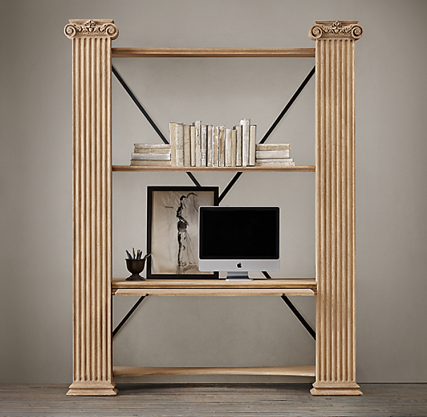 Ionic Column Bookcase Desk